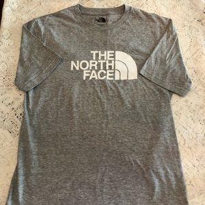 The North Face mens Sz Small heather gray tee EUC